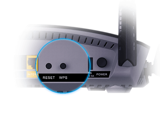 WPS button at the back of the router