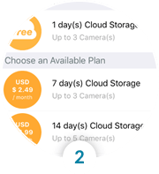 Select your cloud recording Plan