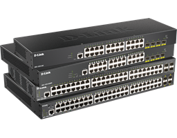 DGS-1250-28X, 28XMP, 52X, 52XMP Gigabit Smart Managed Switches with 10G Uplinks side