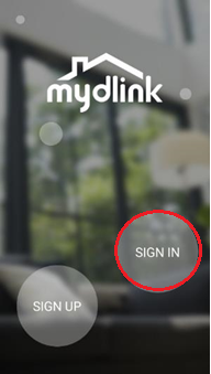 How do I set up motion detection using the mydlink app