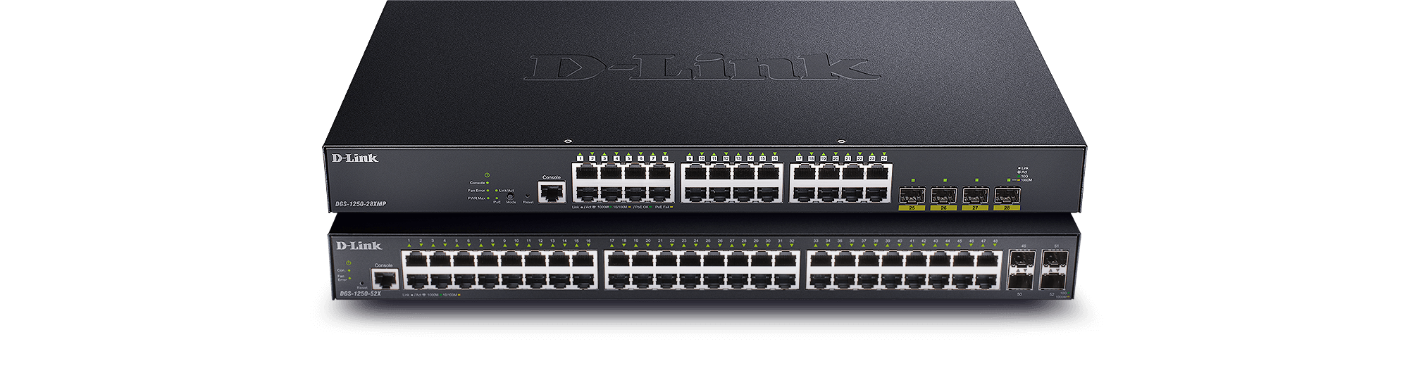 DGS-1250 28-port and 52-port switches