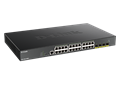 DGS-1250-28MP 52-Port Gigabit Smart Managed PoE Switch with 10G Uplinks side