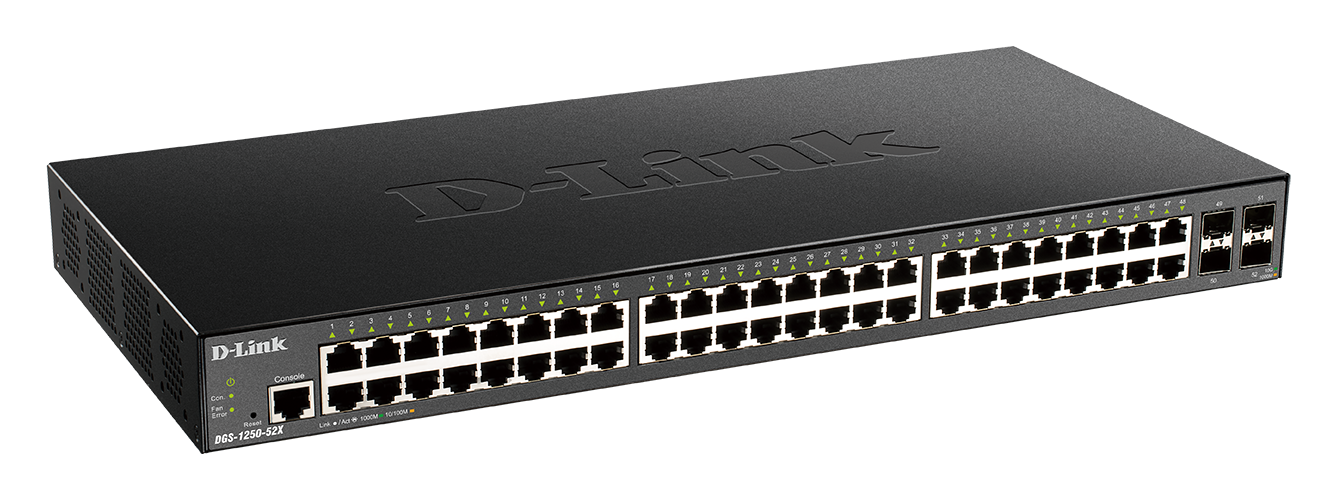 DGS-1250-52XMP 52-Port Gigabit Smart Managed Switch with 10G Uplinks side