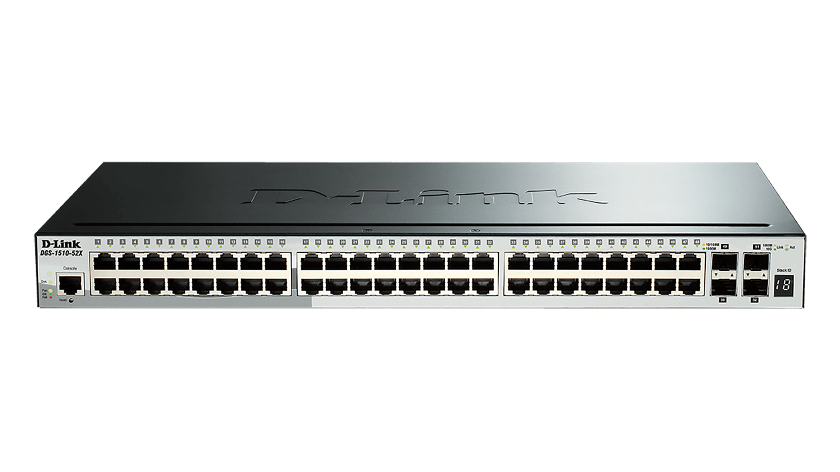 52-Port Gigabit Stackable Smart Managed Switch including 4 10G SFP+