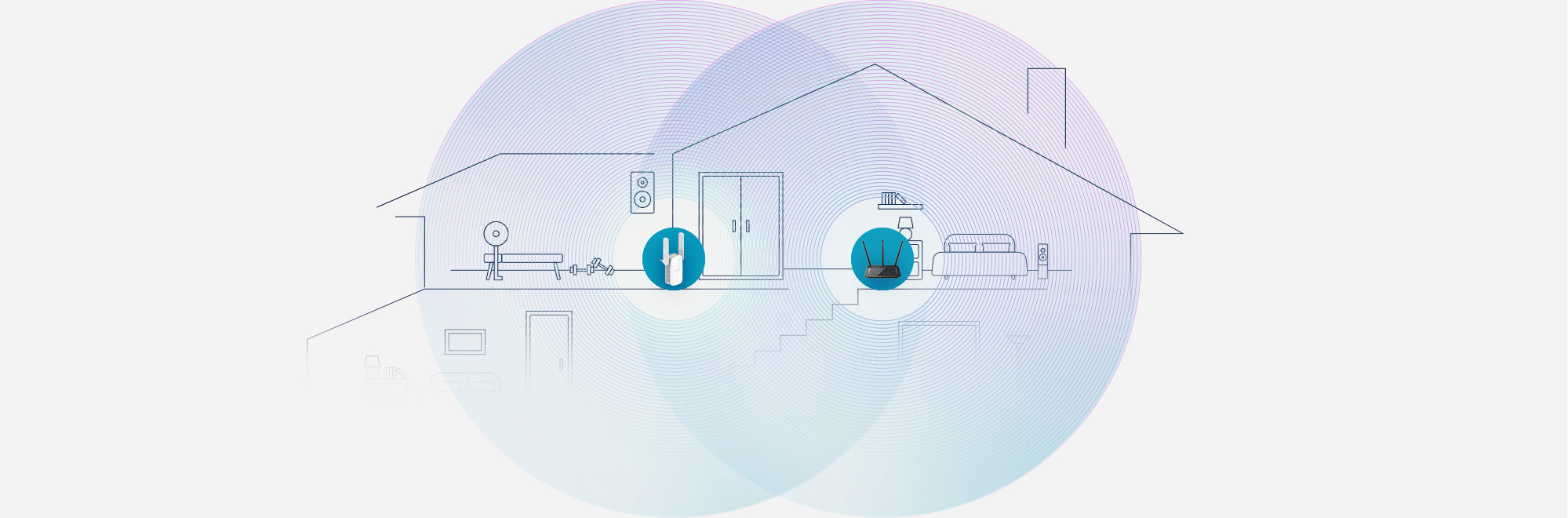 Extend your WiFi network to reach all rooms in your house