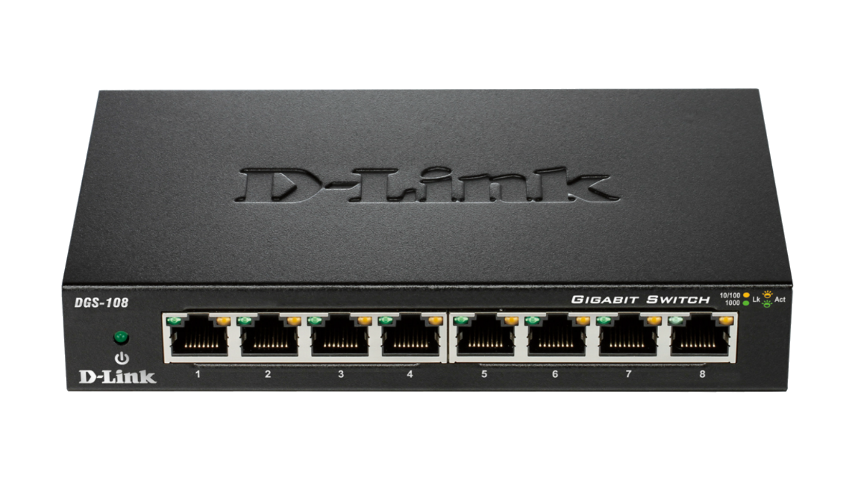 Dgs 108 8 Port Gigabit Unmanaged Desktop Switch D Link Ethernet Wiring