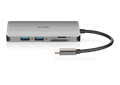 DUB-M810 8-in-1 USB-C Hub with HDMI/Ethernet/Card Reader/Power Delivery - front with reflection