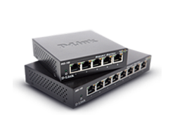 Two D-Link Unmanaged Switches