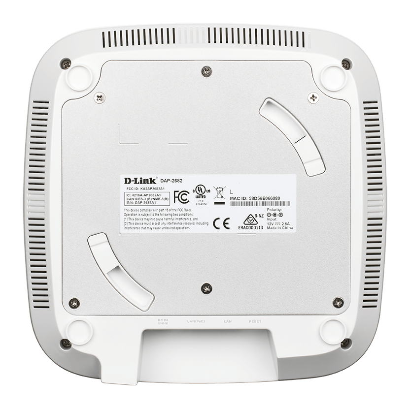 DAP-2662 Wireless AC2300 Wave 2 Dual-Band PoE Access Point - back side.