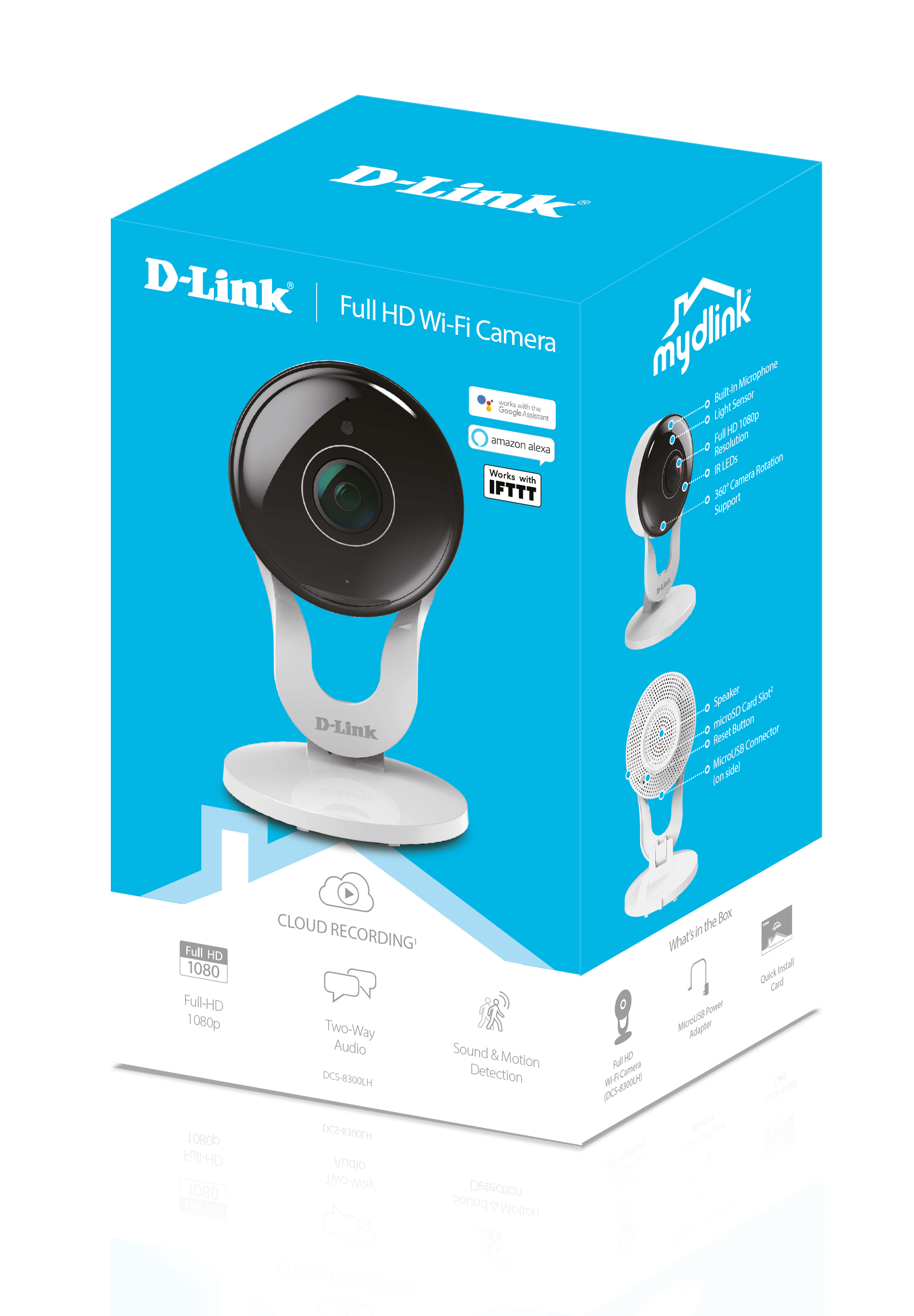 The DCS-8300LH mydlink Full HD indoor Camera box