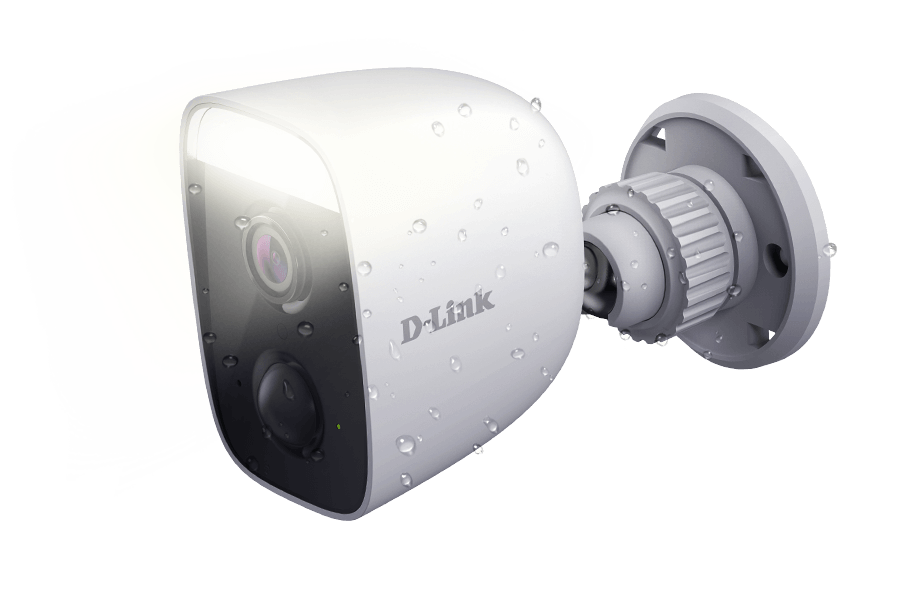 DCS-8627LH Full HD Outdoor Wi-Fi Spotlight Camera using the spotlight