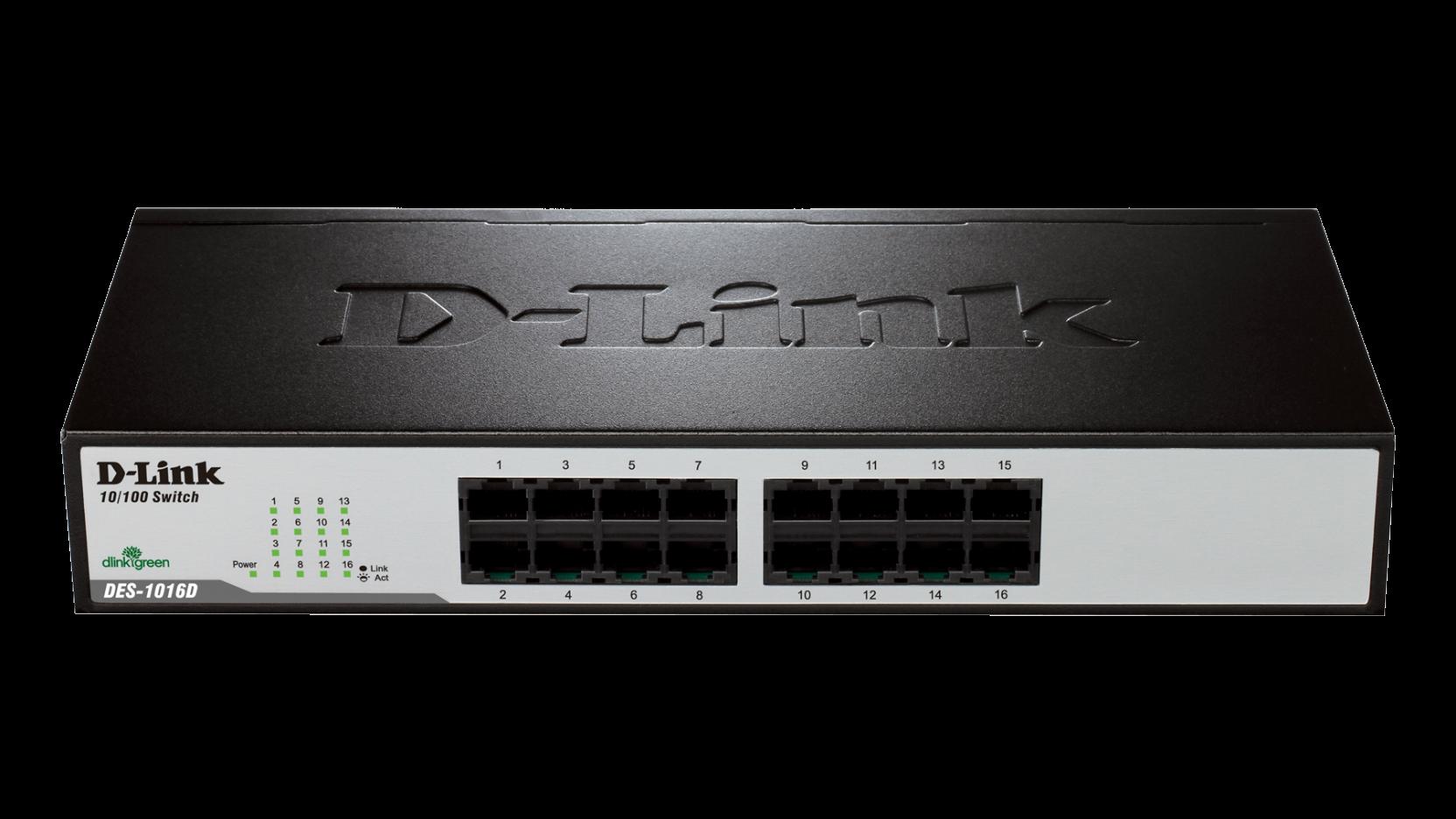 Des 1016d 16 Port Fast Ethernet Switch Rj 45 Auto Uplink