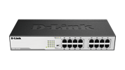 DGS-1016D 16-Port Gigabit Unmanaged Desktop Switch Front View