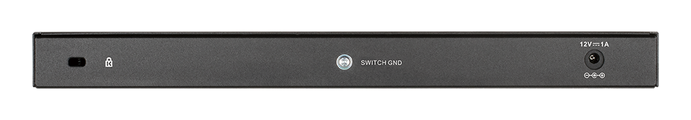 DGS-1016S 16-Port Gigabit Unmanaged Switch - back side.