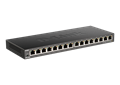 DGS-1016S 16-Port Gigabit Unmanaged Switch - left side.