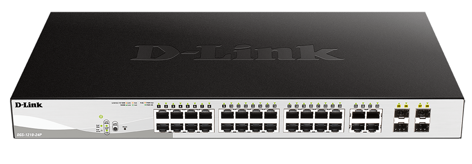 24-Port Gigabit PoE Smart Managed Switch with 4 combo 1000BASE-T/SFP ports (24 x PoE ports, 193W PoE budget)
