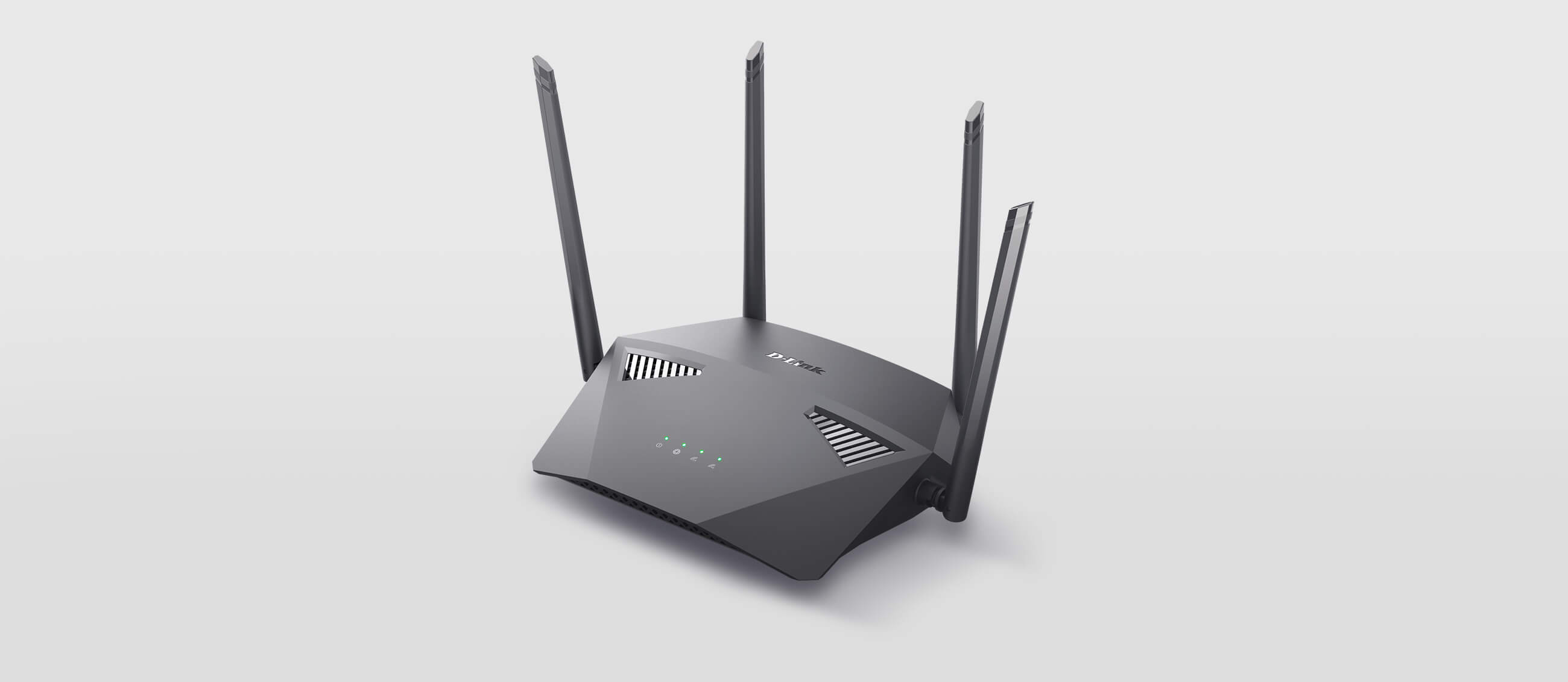 DIR-1950 AC1900 MU-MIMO Wi-Fi Router with a grey background