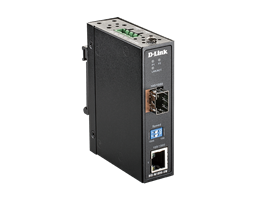 DIS-M100G-SW Industrial 10/100/1000Base-T to SFP Media Converter
