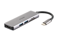 DUB-M530 5-in-1 USB-C Hub with HDMI and SD/microSD Card Reader - side angle