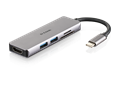 DUB-M530 5-in-1 USB-C Hub with HDMI and SD/microSD Card Reader - side view with reflection