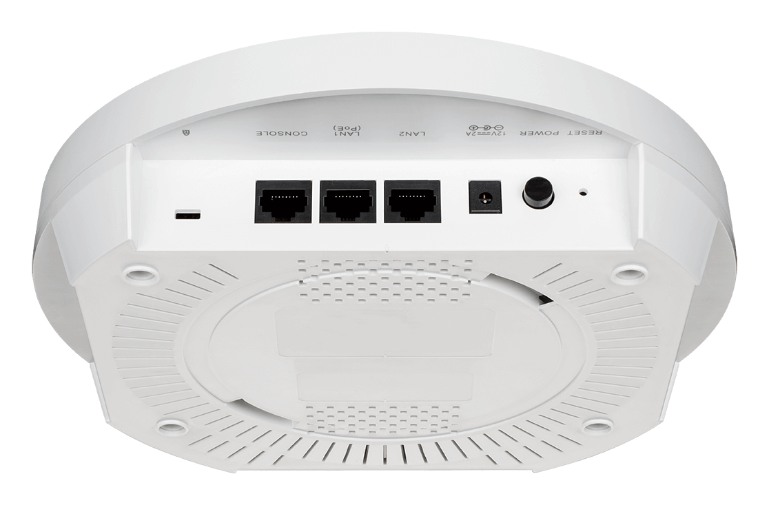 Back underside of the DWL-6620APS Wireless AC 1200 Wave2 Dual-Band Unified Access Point With Smart Antenna