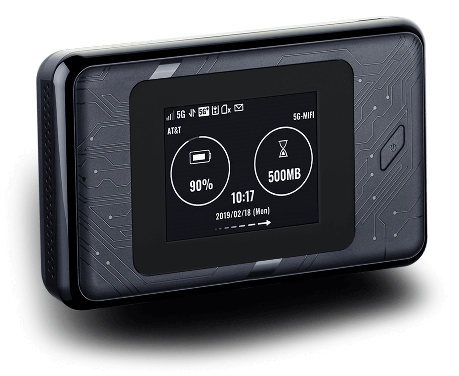 DWR-2101 5G Wi-Fi 6 Mobile Hotspot on-screen network information.