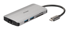 DUB-M810 8-in-1 USB-C Hub with HDMI/Ethernet/Card Reader/Power Delivery - side