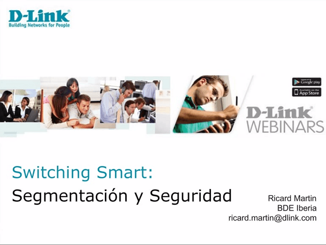 Webinar Taller Switching Smart DGS_1210 Serie