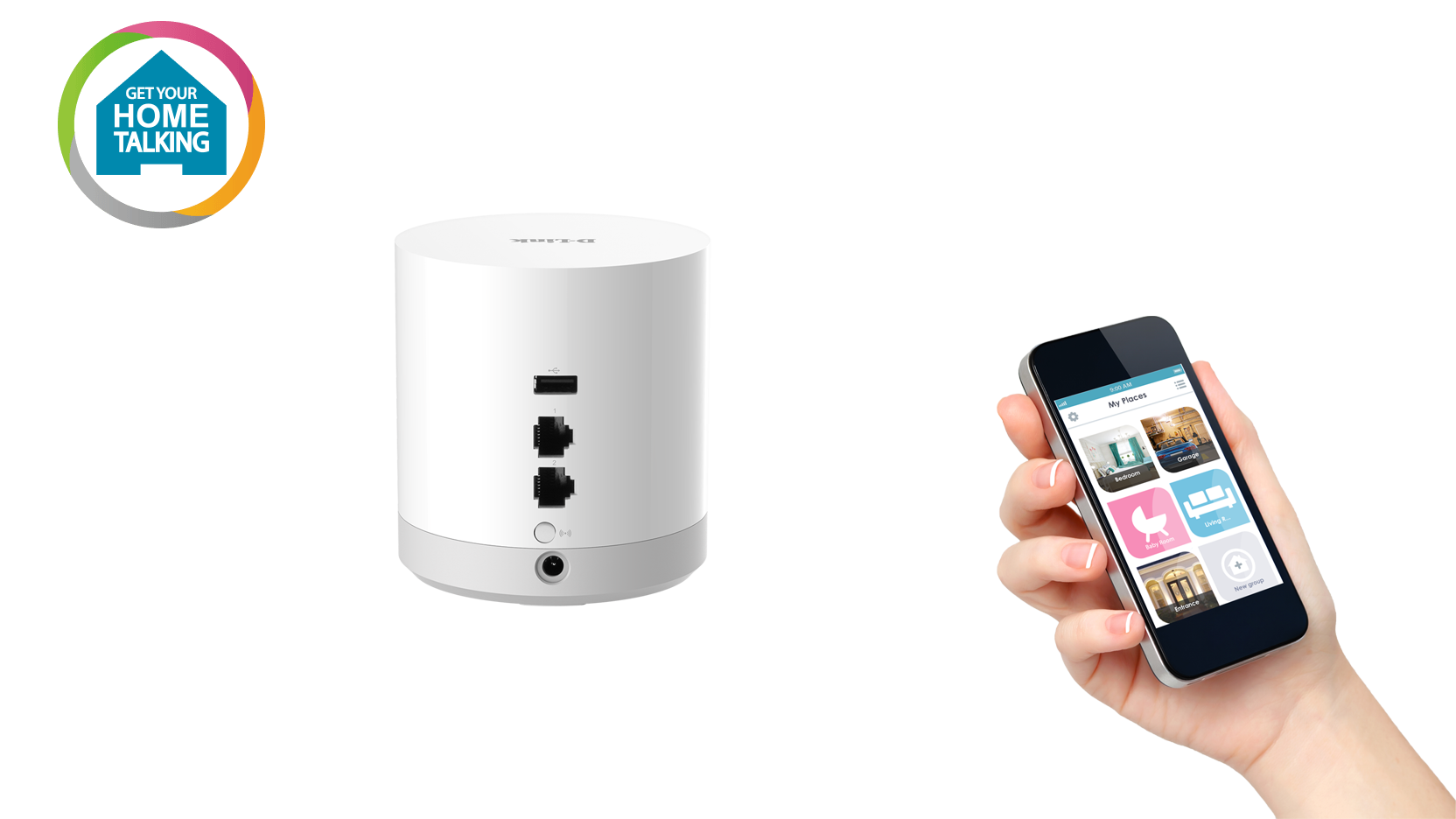 DCH-G020 mydlink Home - Connect Home Hub Back