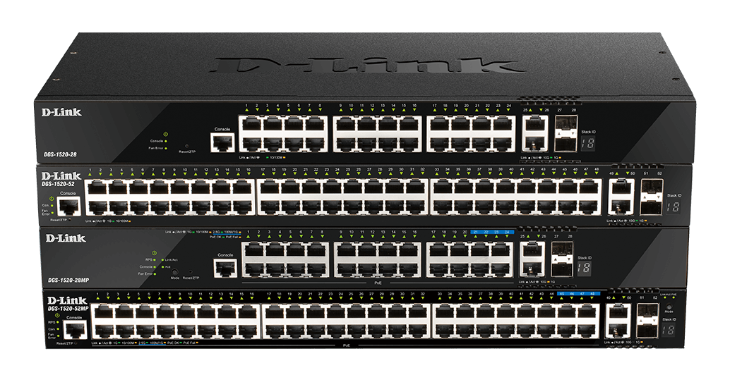 DGS-1520-28 DGS-1520-28MP DGS-1520-52 DGS-1520-52MP Layer 3 Stackable Smart Managed Switches