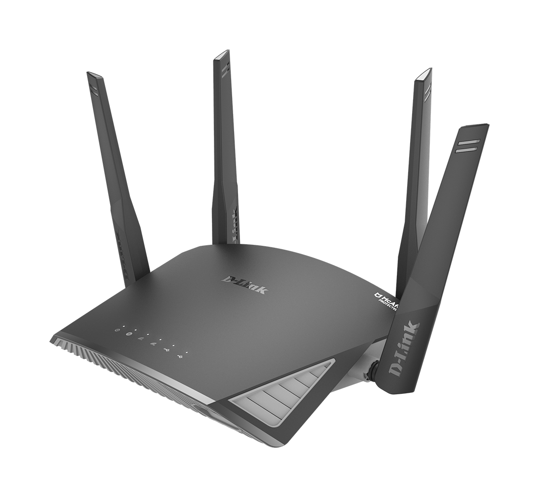 DIR-2660 EXO AC2600 Smart Mesh Wi-Fi Router side angle left