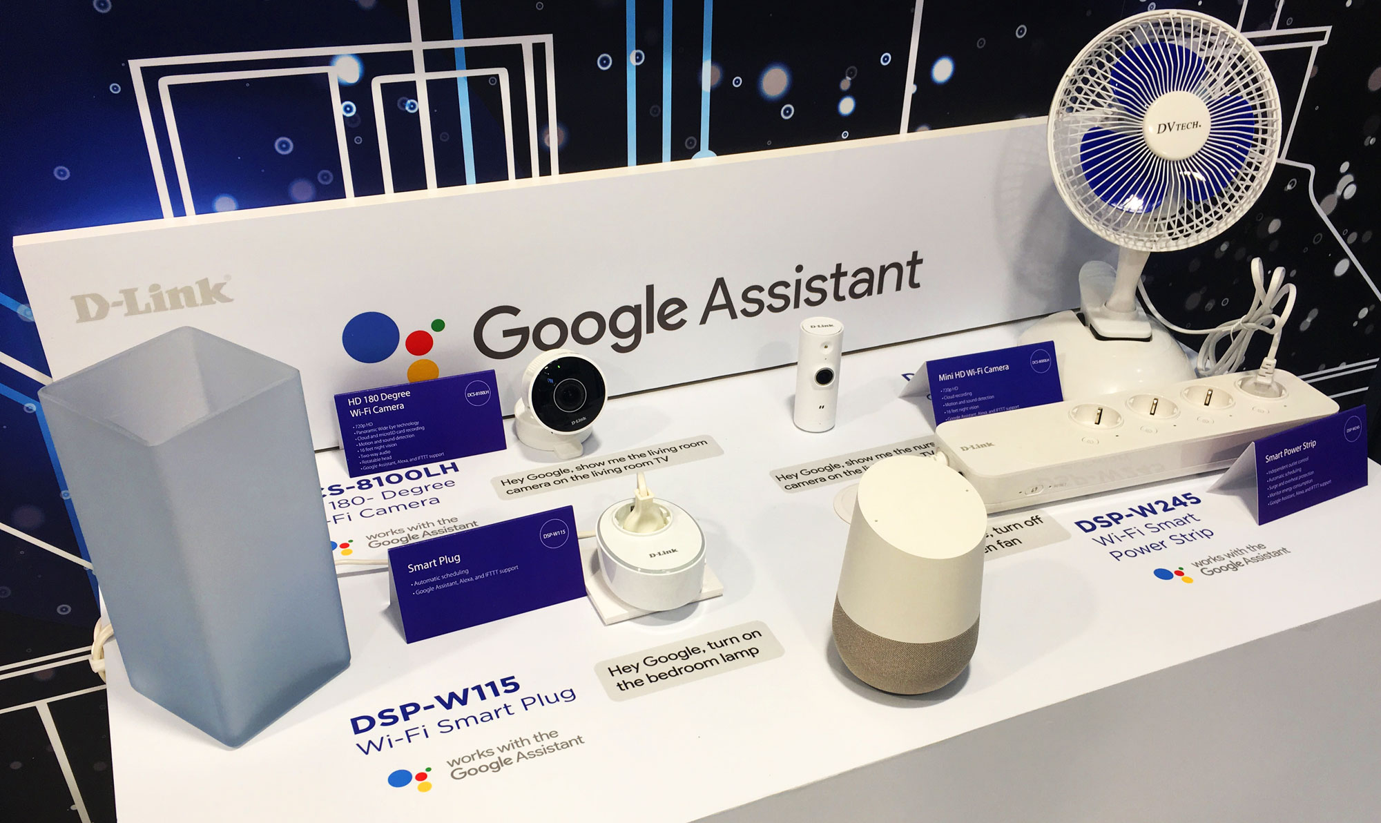 Google Assistant compatible D-Link products
