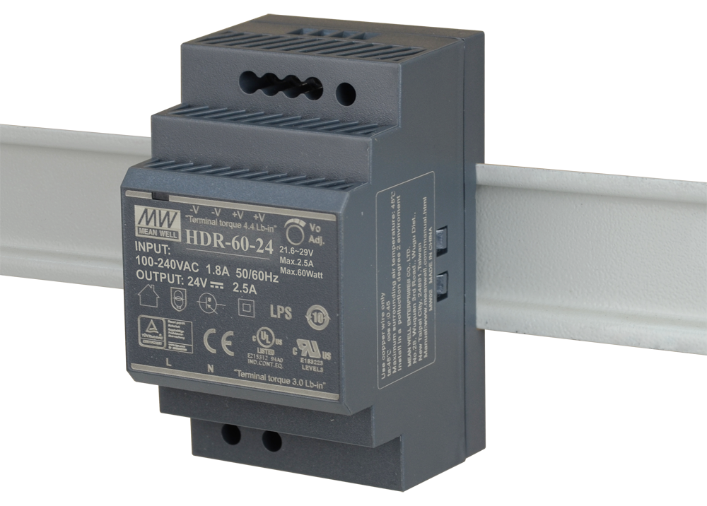 DIS-H60-26 60W 24VDC Ultra Slim DIN Rail PSU