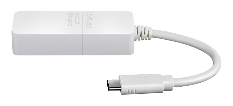 DUB-E150 USB-C to Gigabit Ethernet Adapter Side