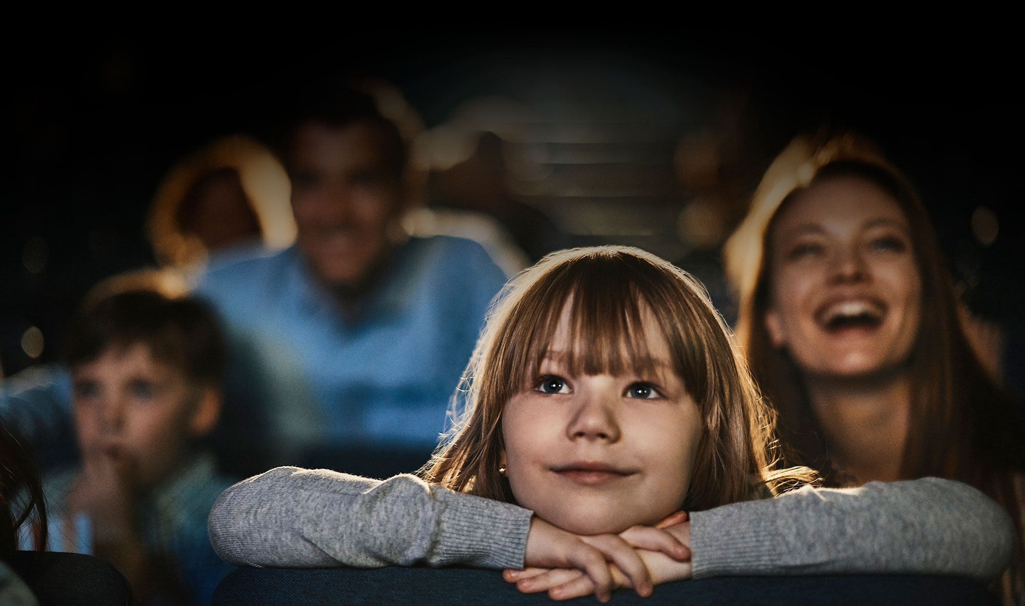 audience watching a film in the cinema