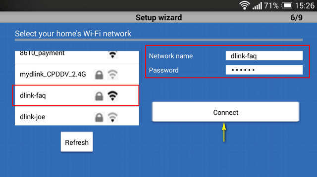 how to remove and create new wifi network with dlink