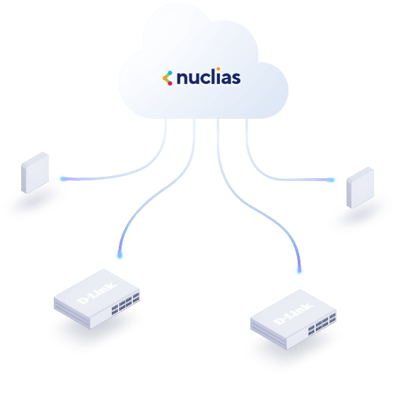 Nuclias Cloud connected to Nuclias Cloud-Managed Switches