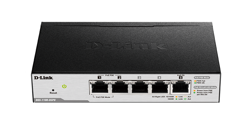 PoE Powered Smart network Switch DGS-1100-05PD