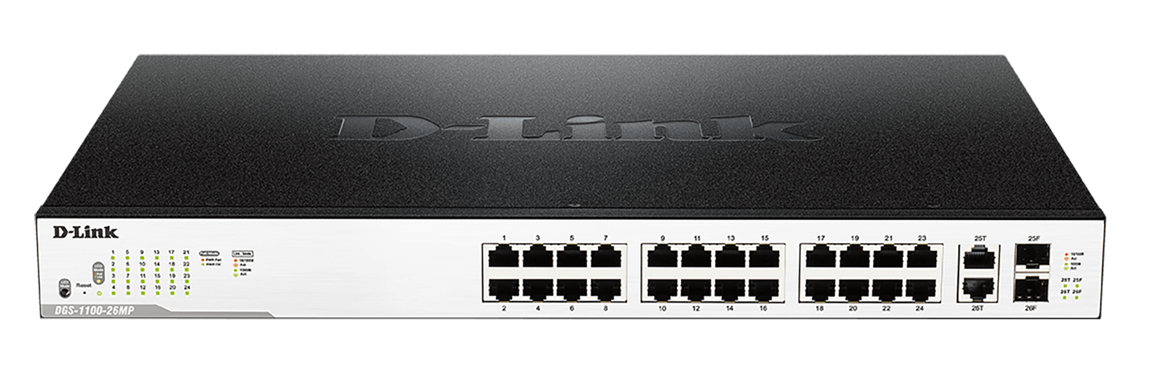 DGS-1100-26MP MaxPoE Smart Switch with SFP ports