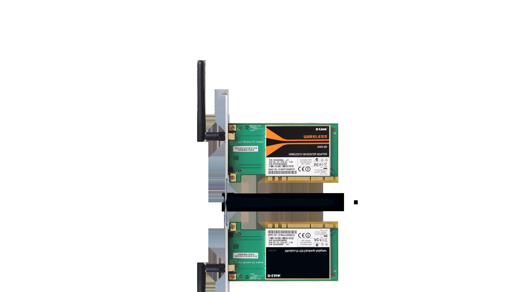 Dwa 525 adaptateur sans fil wireless n 150 pci pour ordinateur de bureau d link france - Ordinateur de bureau en wifi ...