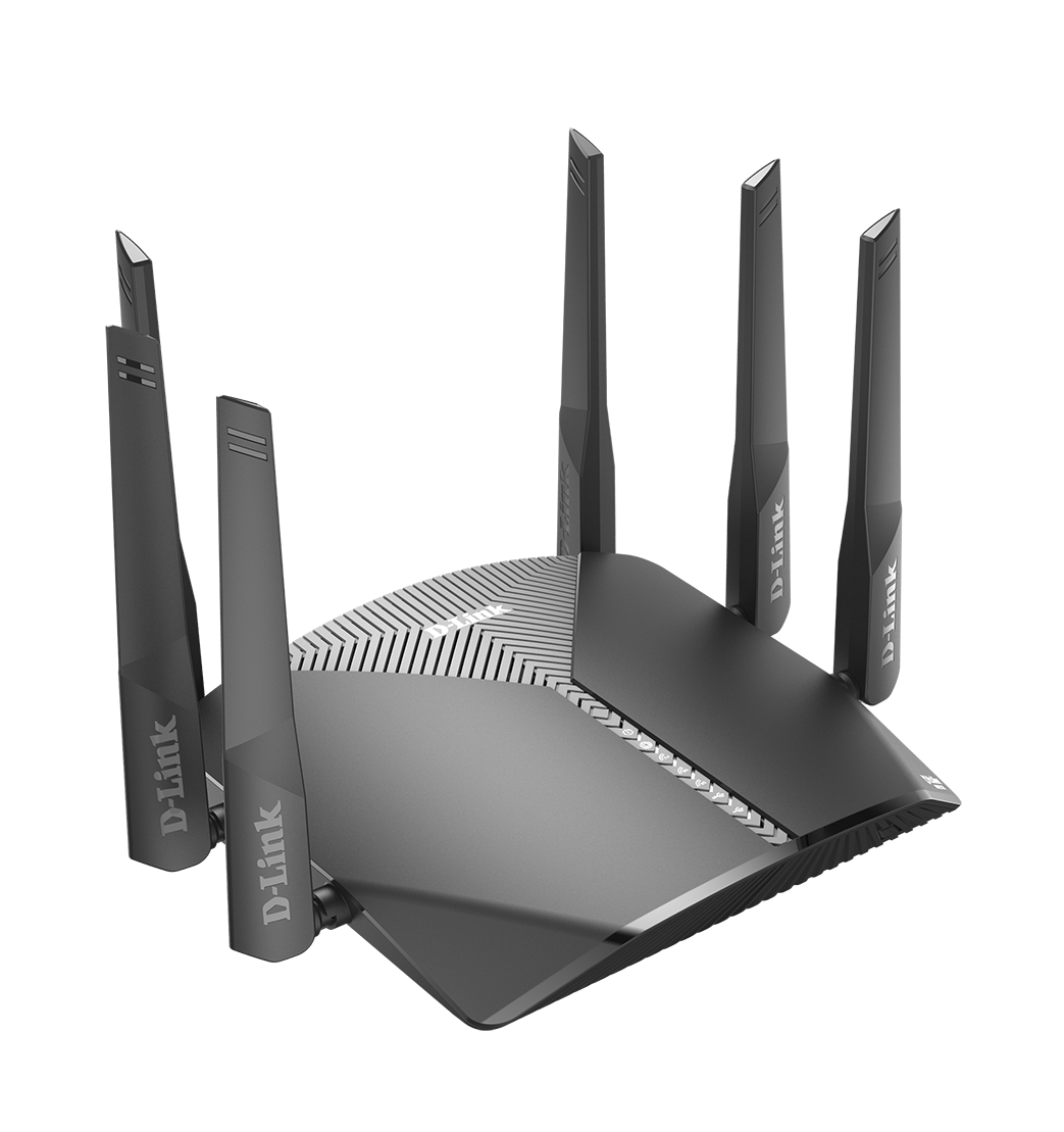 DIR-3060 EXO AC3000 Smart Mesh Wi-Fi Router left side right side angled