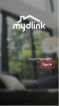 How do I set up the camera using the mydlink app