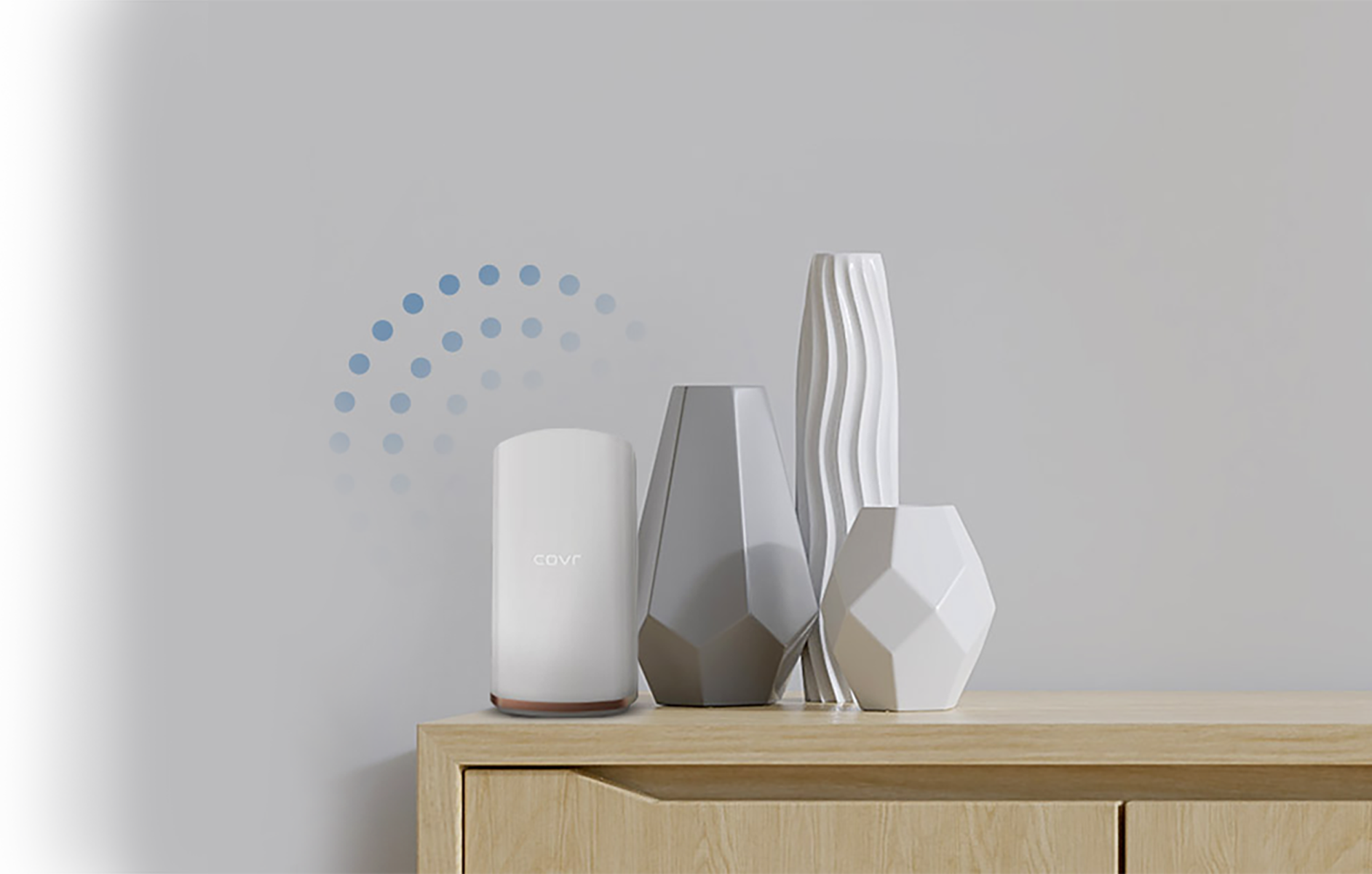 Covr blends into your home and gives you better WiFi coverage