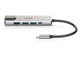 DUB-M520 5-in-1 USB-C Hub with HDMI/Ethernet and Power Delivery - front angle with reflection
