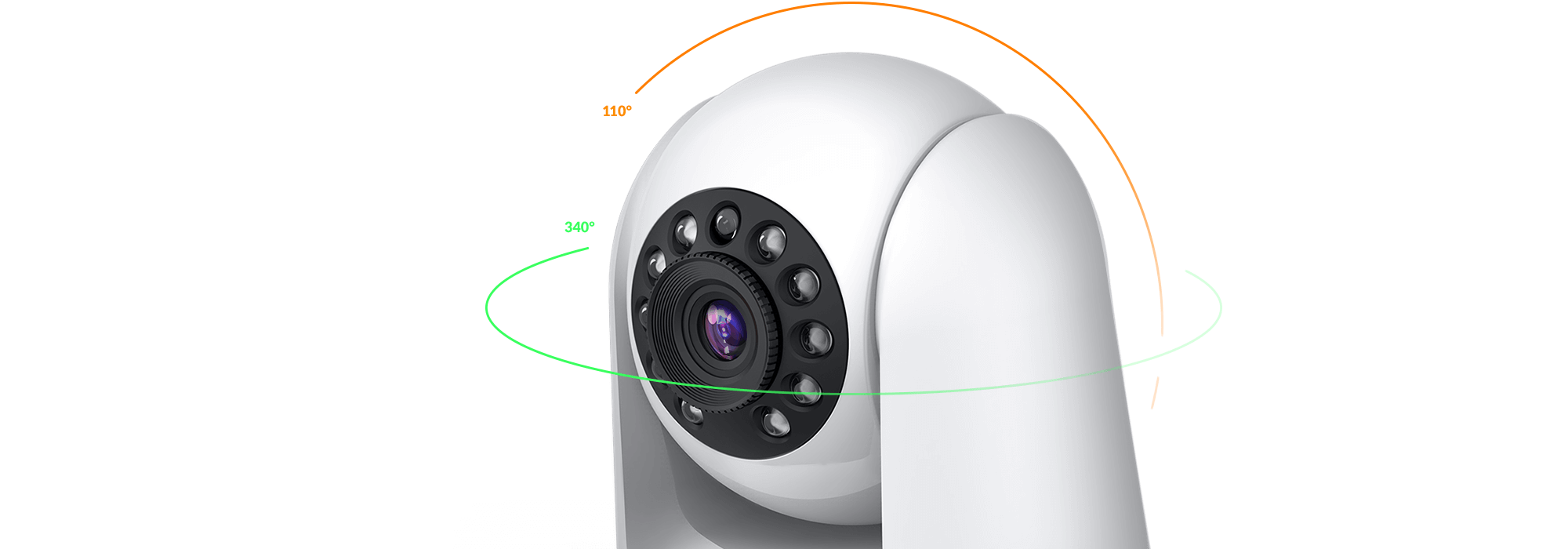 Pan and tilt security camera