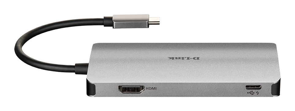 DUB-M610 6-in-1 USB-C Hub with HDMI/Card Reader/Power Delivery - back
