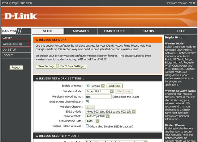 Configurazione router WISP di modo - DAP-1360   D-Link Italia