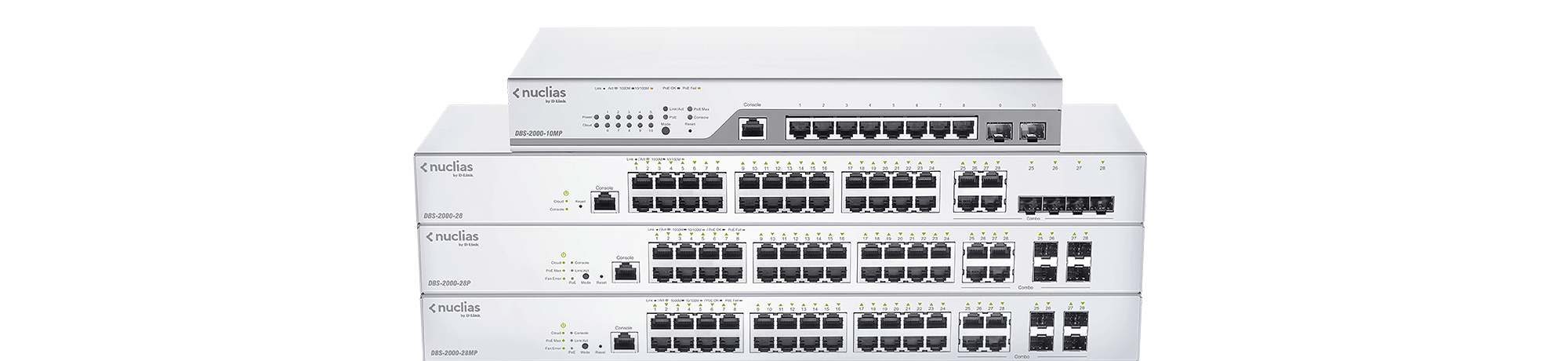 DBS-2000 Nuclias Cloud-Managed Switches 10MP, 28, 28P, 28MP, 52, 52MP