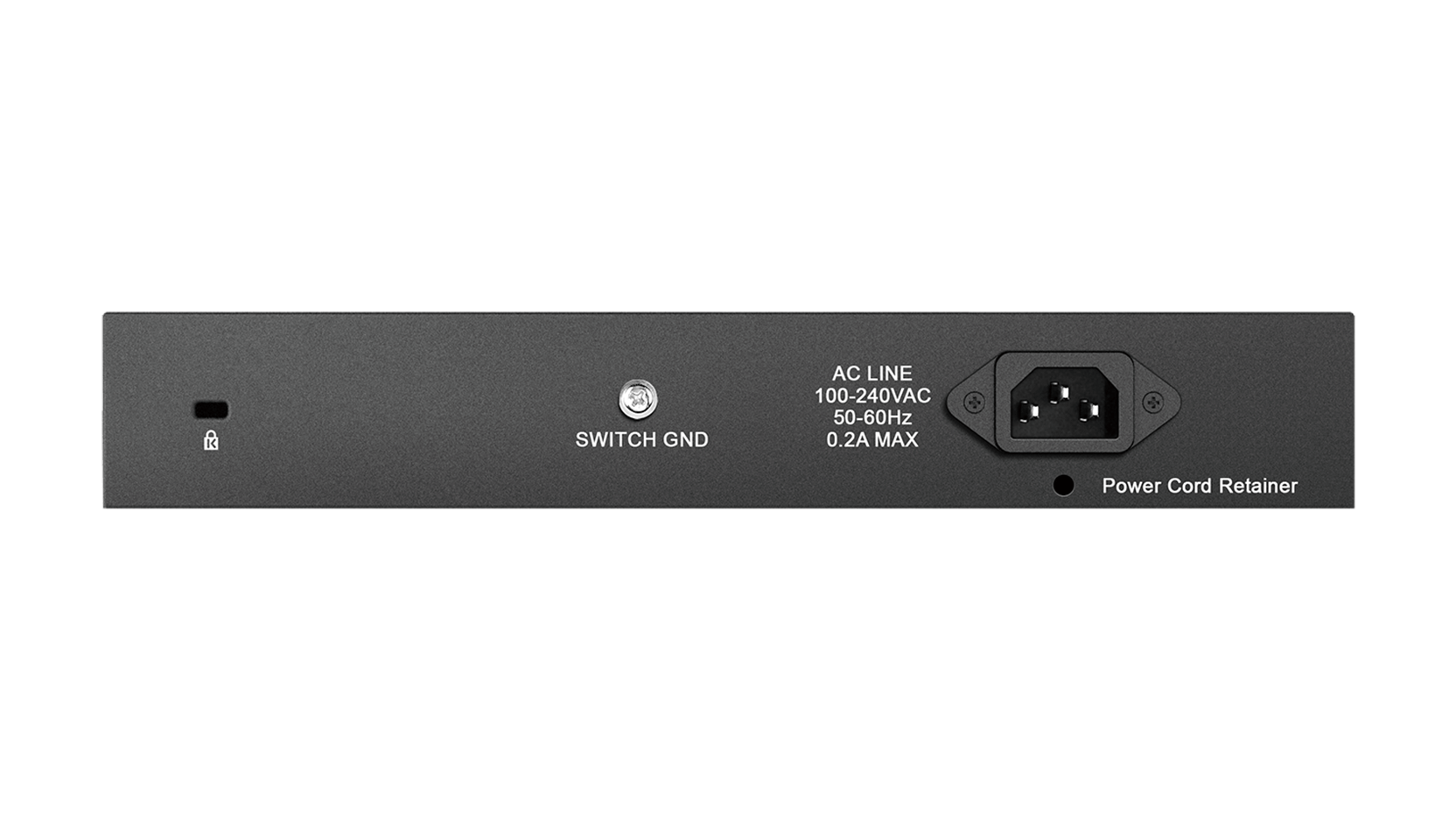 DGS-1016D 16-Port Gigabit Unmanaged Desktop Switch Back View