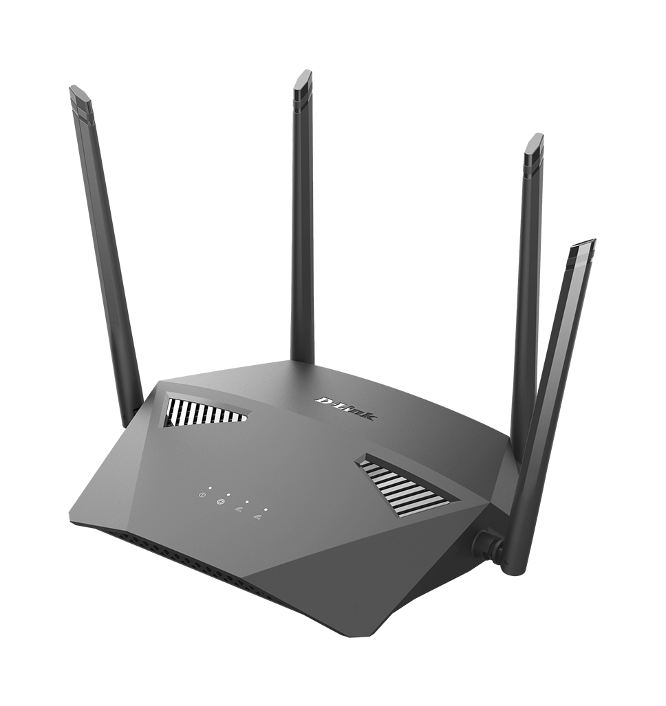 DIR-1950 AC1900 MU-MIMO Wi-Fi Router - left side